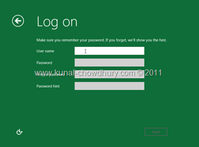 22. Provide Logon Details of the System User