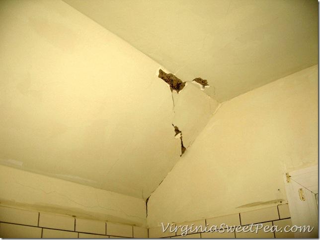 Ceiling Damage in Bathroom