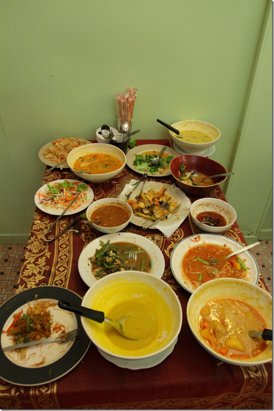 Assorted Vegetarian Menu at May Kaidee Restaurant in Bangkok, Thailand