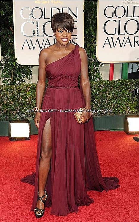 JIMMY CHOO Louisa Patent shoes Choo 24 7 VIOLA DAVIS AT 69TH ANNUAL GOLDEN GLOBES 2012 AWARDS LOS ANGELES
