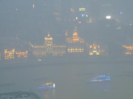 Obiective turistice Shanghai: Bund by night
