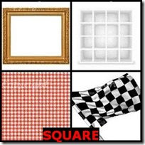 SQUARE- 4 Pics 1 Word Answers 3 Letters