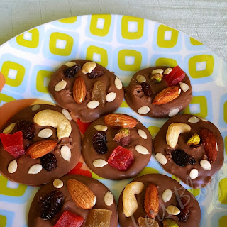 French Mendiants/ Healthy Chocolate Discs.