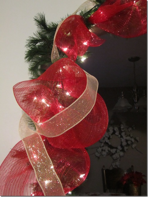 Red Deco Mesh on Garland