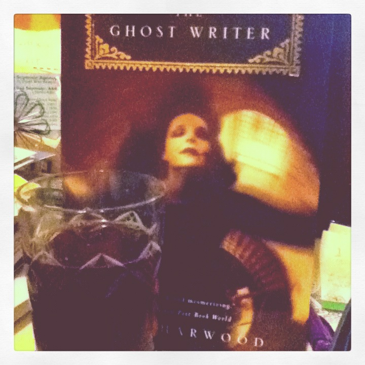 ghosty book and cocktail