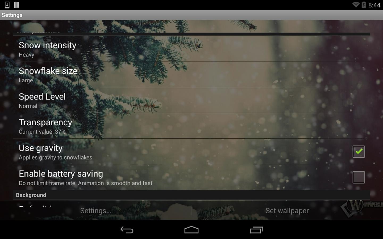 Lovely Snowfall Live Wallpaper - screenshot