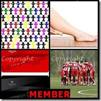 MEMBER- 4 Pics 1 Word Answers 3 Letters