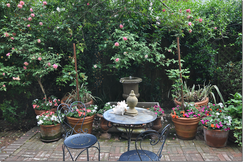 Cote de texas finding personal inspiration for French courtyard garden ideas