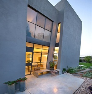 fachada casa moderna H House de Sharon Newman Architects