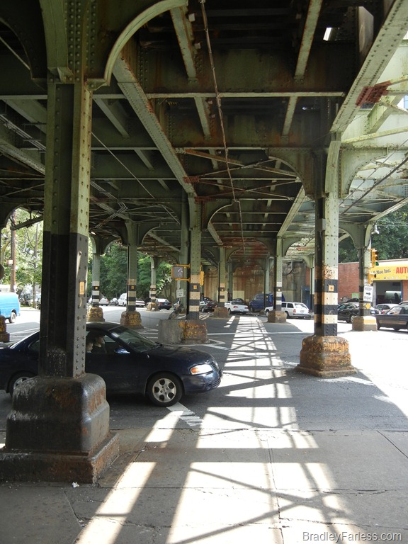 Outside the Dyer Avenue station in the Bronx.