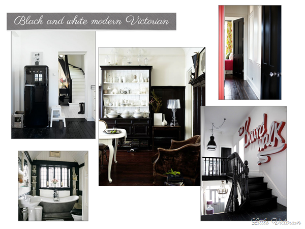 Black and white Victorian mood board