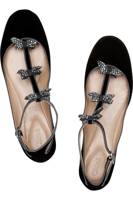 Black Quilted Flat Shoes