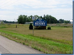 2532 North Dakota Hwy 3 South Rugby - Welcome sign
