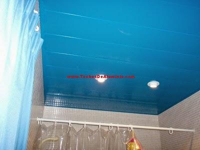 techos de aluminio azul