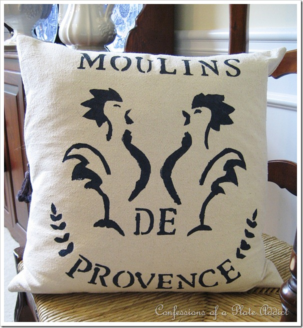 French Grain Sack Pillow