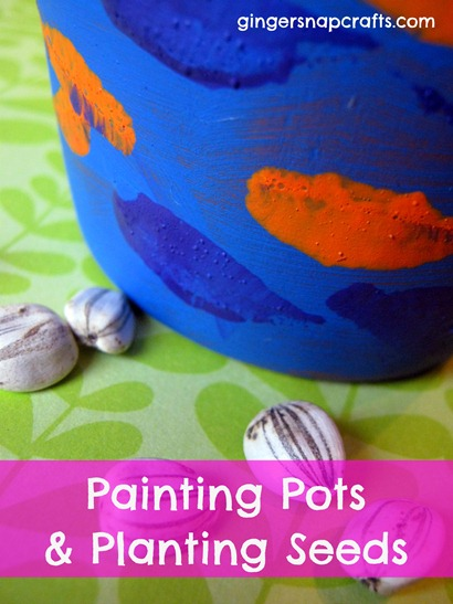 painting pots planting seeds