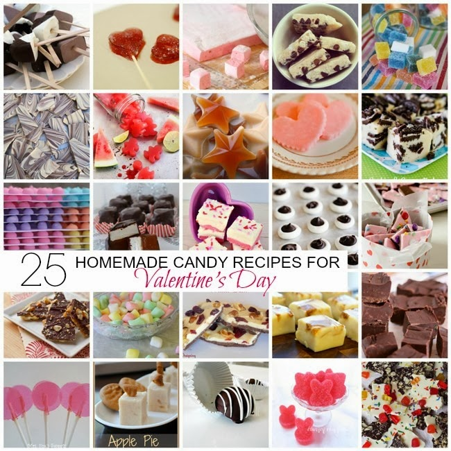 25 Homemade Candy Recipes for Valentines Day via homework | carolynshomework.com