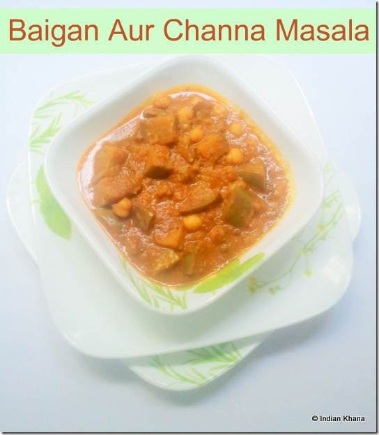 Eggplant and chickepas Masala