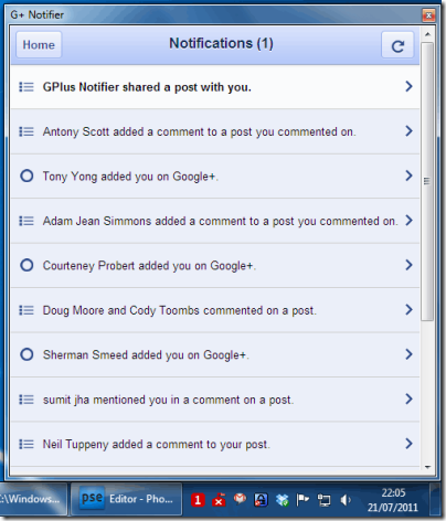 Google+ Notifications