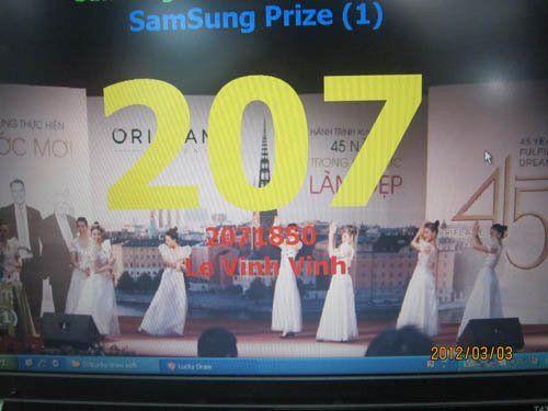 Kết quả bốc thăm trúng thưởng ngày 3-3-2012