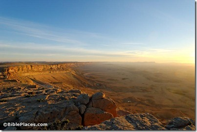 Machtesh Ramon at sunrise, tb030707948