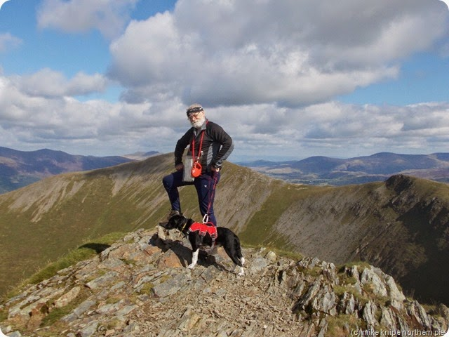 me and the pooch at the top