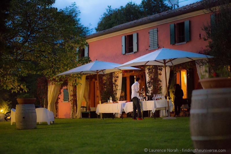 wine tasting Italian villa le marche