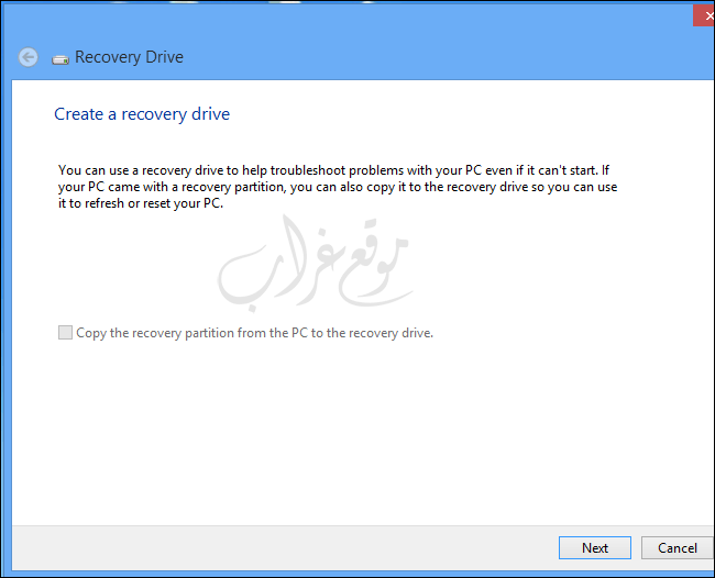 recovery drive