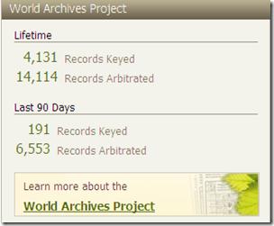 世界档案项目活动,Ancestry.com个人资料