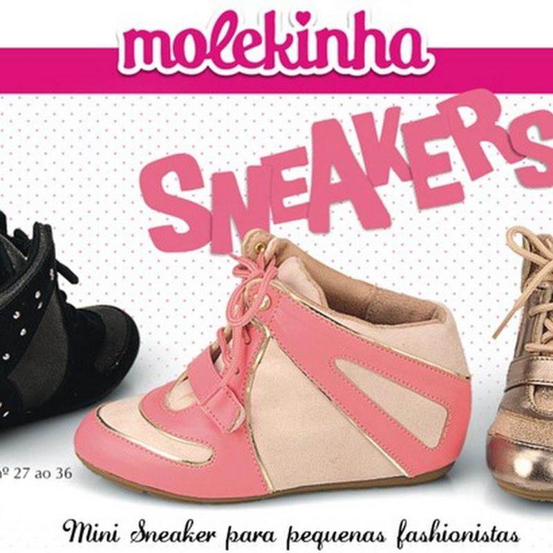 81be81ab8 Sneaker infantil para crianças estilosas – Molekinha lança modelo para  pequenas fashionistas.