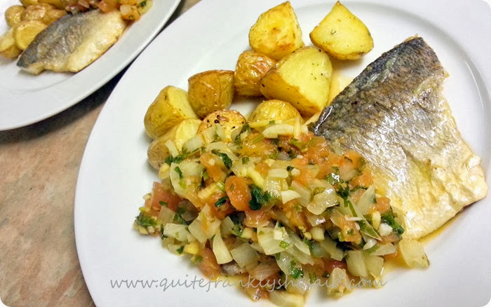 Hello Fresh Simple Sumptuous sea Bream tomato concasse crispy potatoes