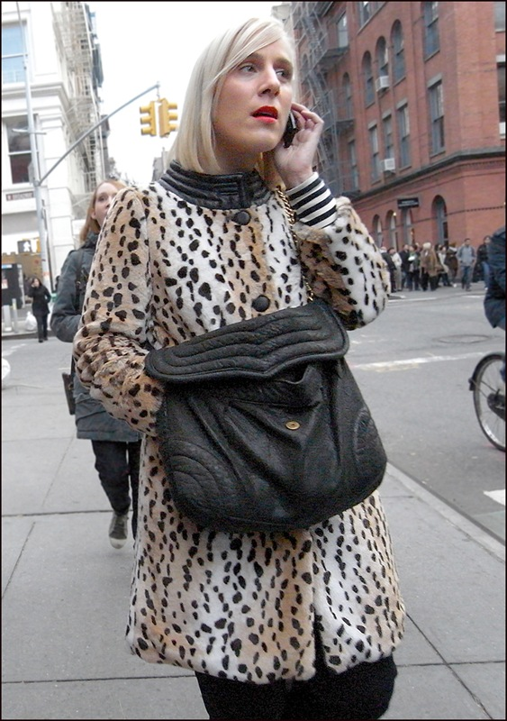 w animal print faux fur with leather collar ol