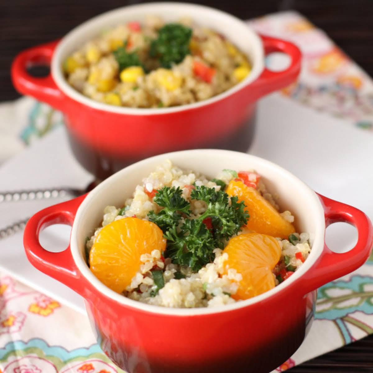 Feta Mandarin Asian Quinoa Salad