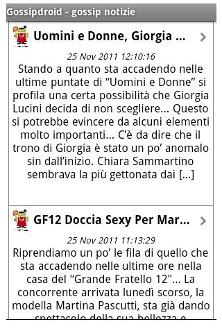 Gossipdroid - gossip news- screenshot