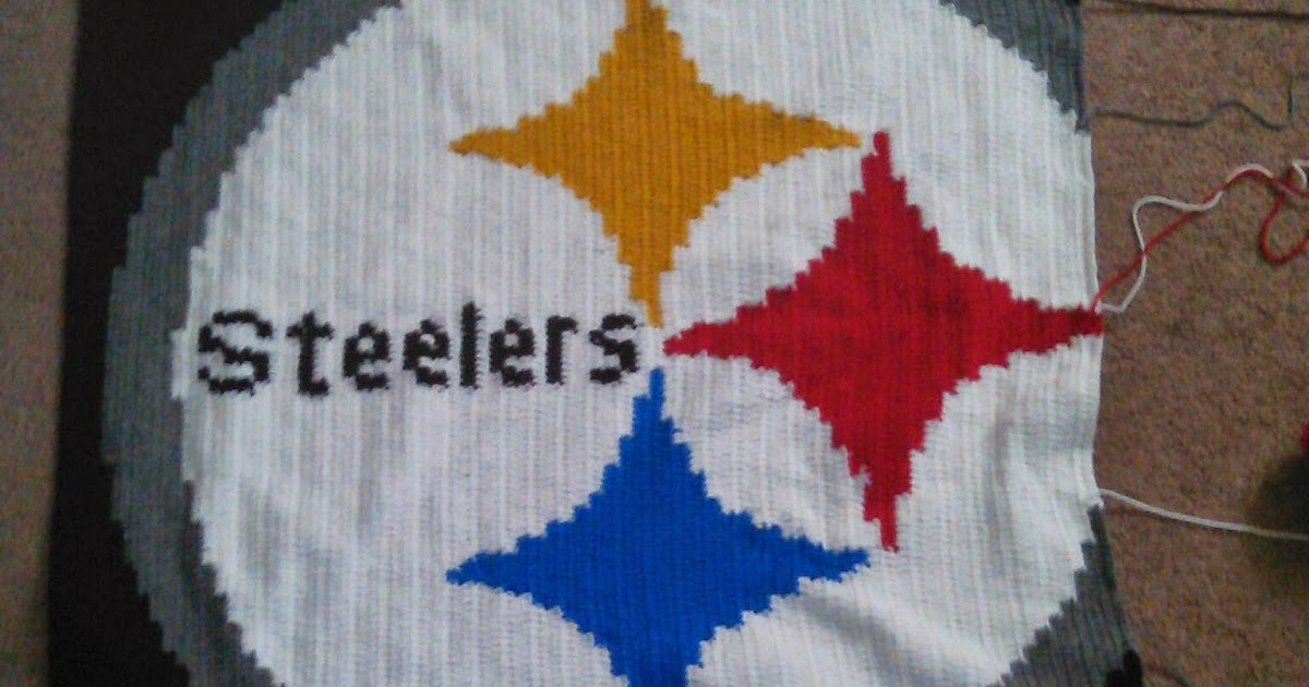 Kendras Crocheted Creations Steelers Throw