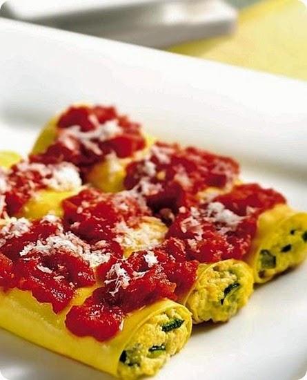 cannelloni alla ricotta e zucchine