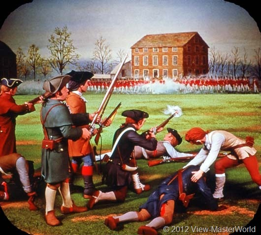 View-Master The Revolutionary War (B810), Scene A3: Battle of Lexington, 1775