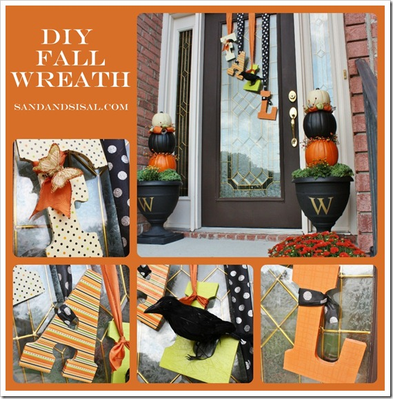 DIY Falling Fall Door Decor | Easy Fall Door Decorations You Can DIY on a Budget | fall door decorations | fall door wreath