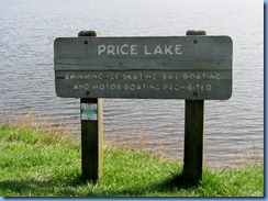 0829 North Carolina, Blue Ridge Parkway  - Julian Price Memorial Park - Price Lake sign and lake