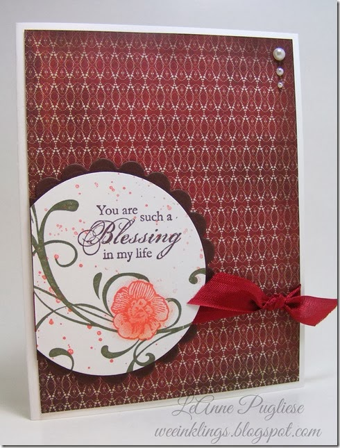 LeAnne Pugliese WeeInklings ColourQ 225 Blessings Stampin Up
