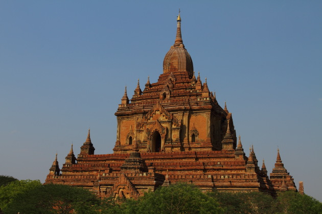 The beautiful Htilo Milo Temple, Bagan, Burma