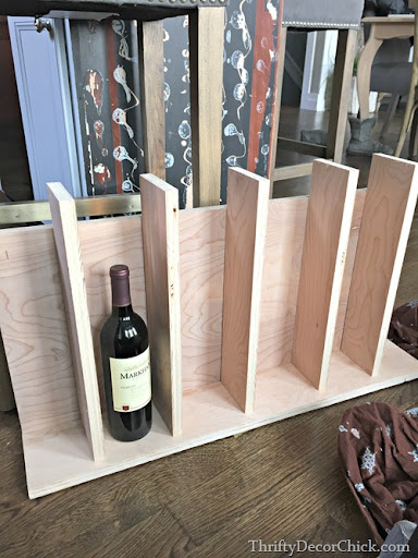 DIY Wine Rack Wood