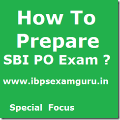How to prepare SBI PO Exam 2013