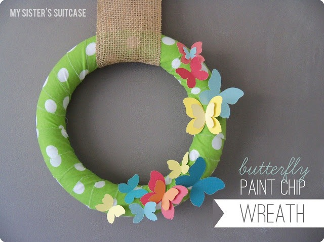 wow me paint chip wreath
