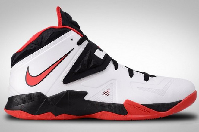 the latest 0bfb2 ab859 Nike Zoom Soldier VII White / Black / Red (599264-100) | NIKE LEBRON ...