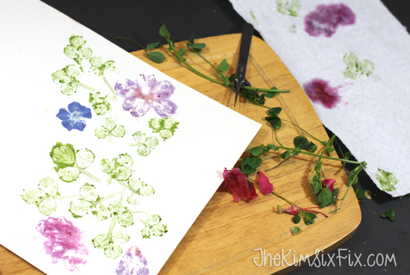 Pounded flower prints