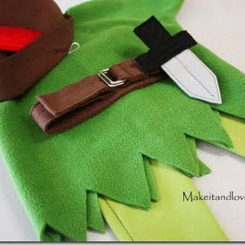 Hacer disfraz casero de Peter Pan en Fieltro