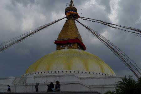 Imagini Nepal: stupa de la Boudhanath