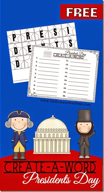 Presidents Day Spelling Activity - This is such a fun, free printable activity for kids in Kindergarten through elementary school.