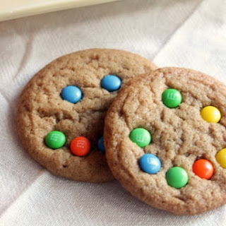 Brown Sugar Cookies with Mini M&Ms